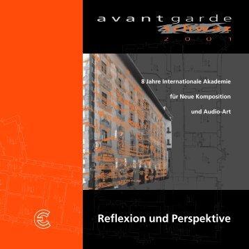 Reflexion und Perspektive - Avantgarde Tirol