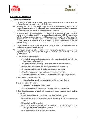 proposta sindical de CCOO de Catalunya en relació a la salut laboral