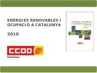 Energies renovables i ocupació a Catalunya 2010 - CCOO de ...