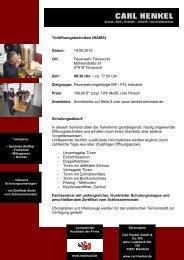 Seminar für verschiedene Techniken der Türöffnung - Fire-Circle