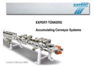 EXPERT-TÜNKERS Accumulating Conveyor Systems