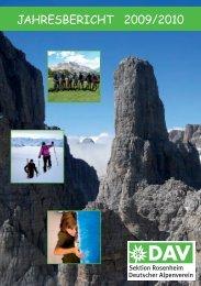 Jahresbericht 2009/2010 - Sektion Rosenheim