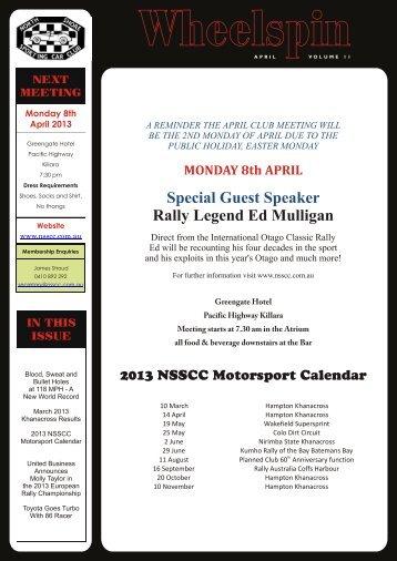Wheelspin Vol 11 - April - North Shore Sporting Car Club