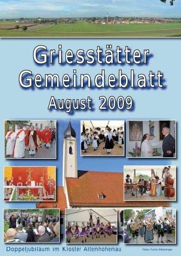 Gemeindeblatt August 2009 - Griesstätt