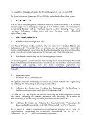 15. ordentliche Sitzung des Senates der 2. Funktionsperiode vom 12 ...