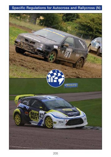 205-216 Specific Regulations for Autocross and Rallycross - MSA