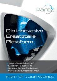 Die innovative Ersatzteile Plattform