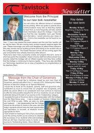 Tavistock College Newsletter March 2012