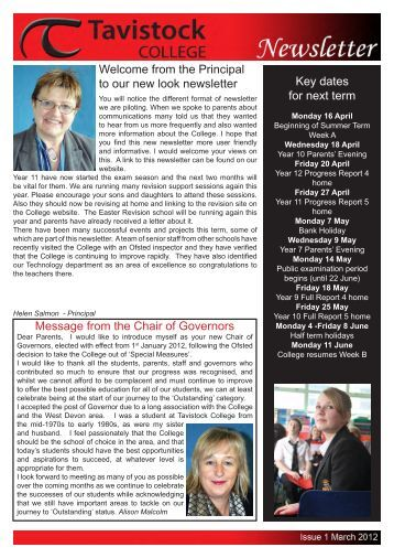 Tavistock College Newsletter March 2012