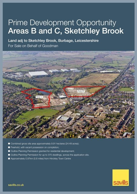 Prime Development Opportunity Areas B and C, Sketchley ... - Savills