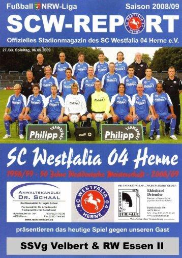 Der SCW-Kader 2008/09 - SC Westfalia 04 Herne eV