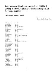 International Conference on AE – 1 - AEWG