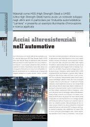 Acciai altoresistenziali nell'automotive - Prima Industrie SpA