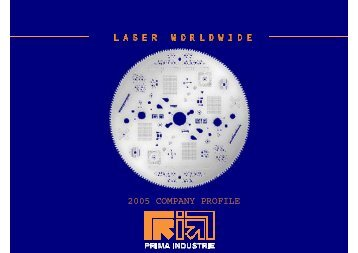 COMPANY PROFILE - Prima Industrie SpA