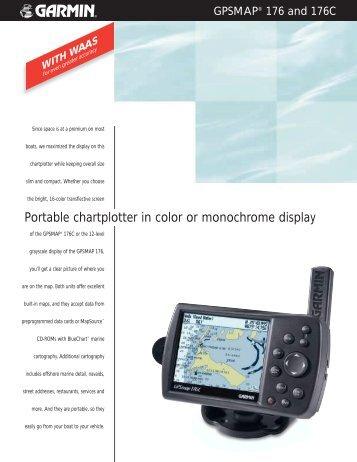 Portable chartplotter in color or monochrome display - Garmin