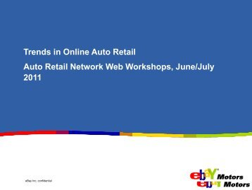 Industry Trends and Predictions Andrew Hooks, eBay - Auto Retail ...