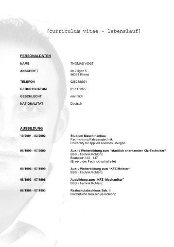 Lebenslauf (curriculum vitae) - nachhilfelehrer-latein.de