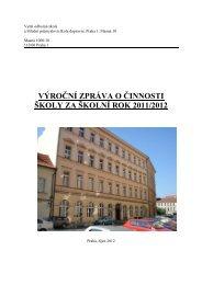 Výroční zpráva 2012 - VOŠ a SPŠ dopravní, Praha 1, Masná 18