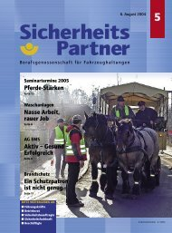Pferde-Stärken Aktiv – Gesund - Berufsgenossenschaft für Transport ...