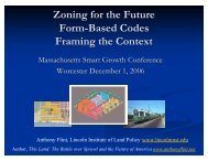 Zoning for the Future FBC Framing the Context