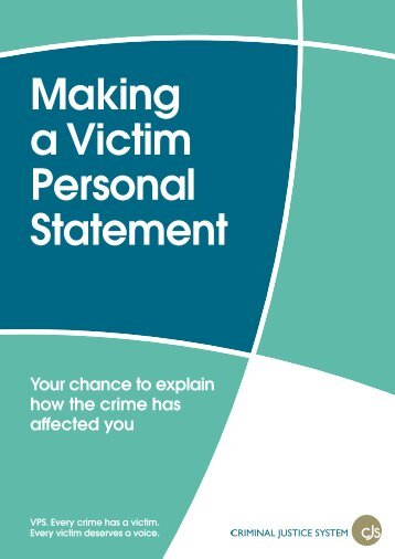 Making a Victim Personal Statement - Gwent Police
