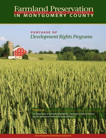 Preserving Farm Land in Montgomery County