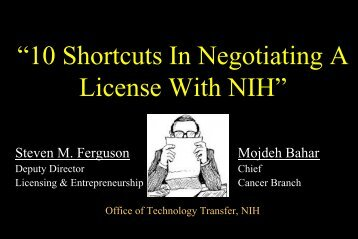 NIH Office of Technology Transfer - Montgomery County Economic ...