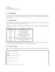 Lisp Cheat Sheet