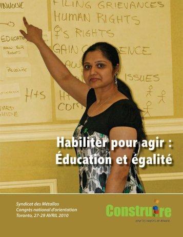 Habiliter pour agir : Éducation et égalité
