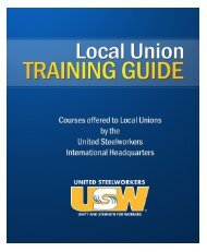 2011 Local Union Training Guide - United Steelworkers