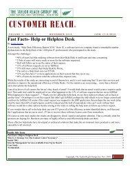 Customer Reach Newsletter – November 2010 - The Taylor Reach ...