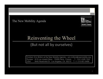 Download PDF of Thursday's presentation - smart