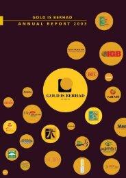 Goldis Berhad Annual Report 2003