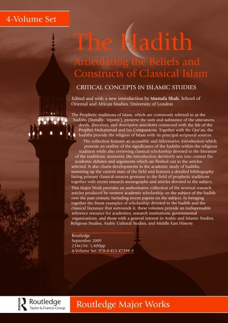 The Hadith - Routledge