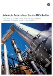 Motorola Professional Series ATEX Radios - Radiotrans
