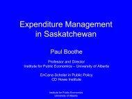 Expenditure Management in Saskatchewan - Institute for Public ...