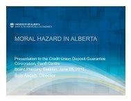 MORAL HAZARD IN ALBERTA - Institute for Public Economics