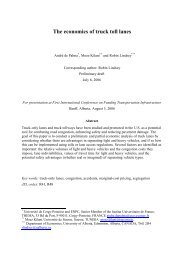 The Economics of Truck Toll Lanes - André de Palma, Moez Kilani ...