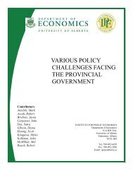 various policy challenges facing the provincial government