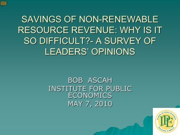 Why is Saving So Difficult? - Ascah - Institute for Public Economics