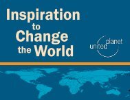 Inspiration to Change the  World - United Planet