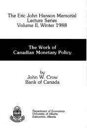 John Crow - Institute for Public Economics - University of Alberta