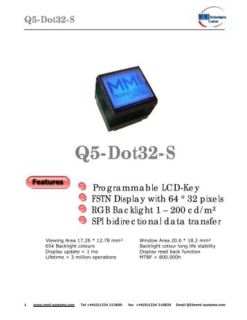 Q5-Dot32-S - RJS Electronics Ltd