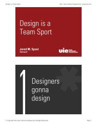 Design is a Team Sport - R2.0
