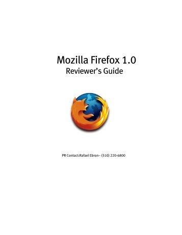 Mozilla Firefox 1.0 - rebron.org