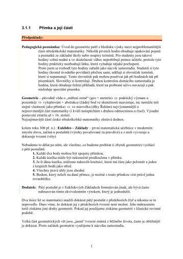 3.1.1 Přímka a její části - Realisticky cz