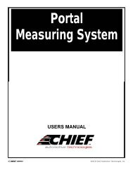 Portal Measuring System - Chief Automotive Technologies