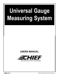 Universal Gauge Measuring System - Chief Automotive Technologies