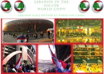 LEBANON IN THE SOCCER WORLD CUP???