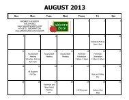 AUGUST 2013 - Nazareth Academy